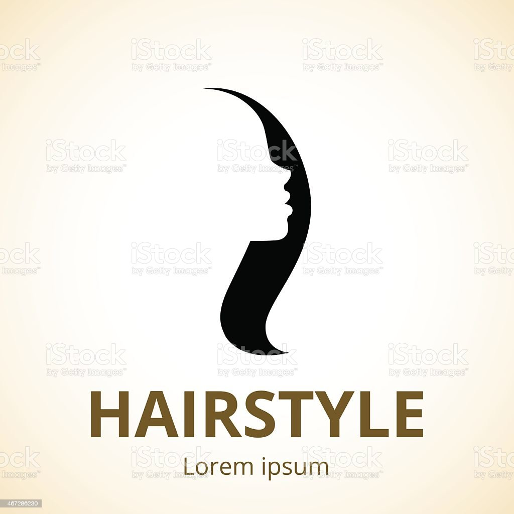 Vector Logo For Beauty Salons And Barber Shops Royalty Free Stock Art