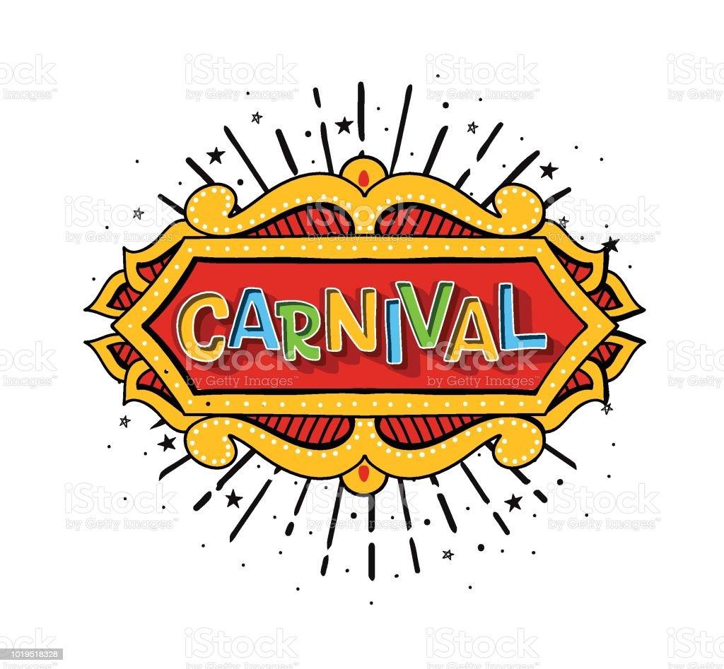 Logotipo de vetor para o carnaval - ilustração de arte em vetor