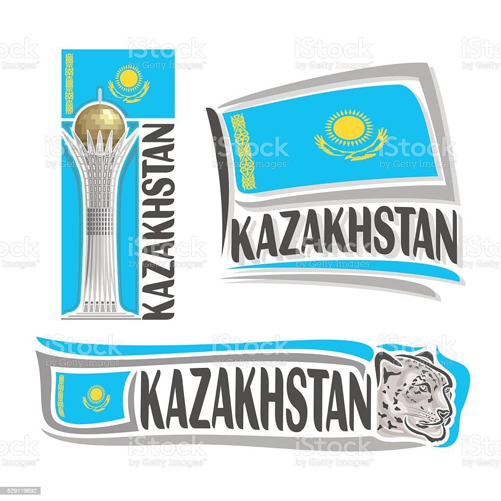 Vector logo for Kazakhstan vector art illustration