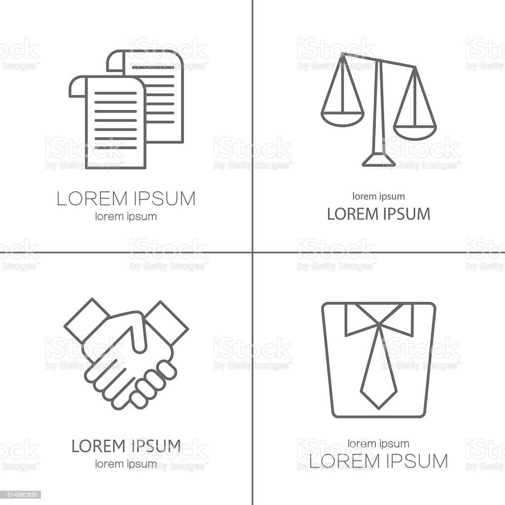 Vetor de logotipo para empresa de direito, juristical empresa - ilustração de arte em vetor