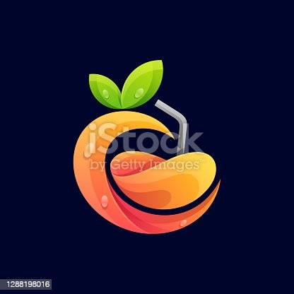 istock Vector Logo Illustration Juice Gradient Colorful Style. 1288198016