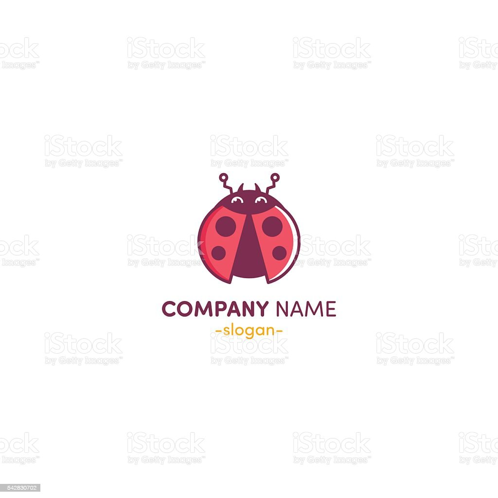Vector logo Ladybug vector art illustration