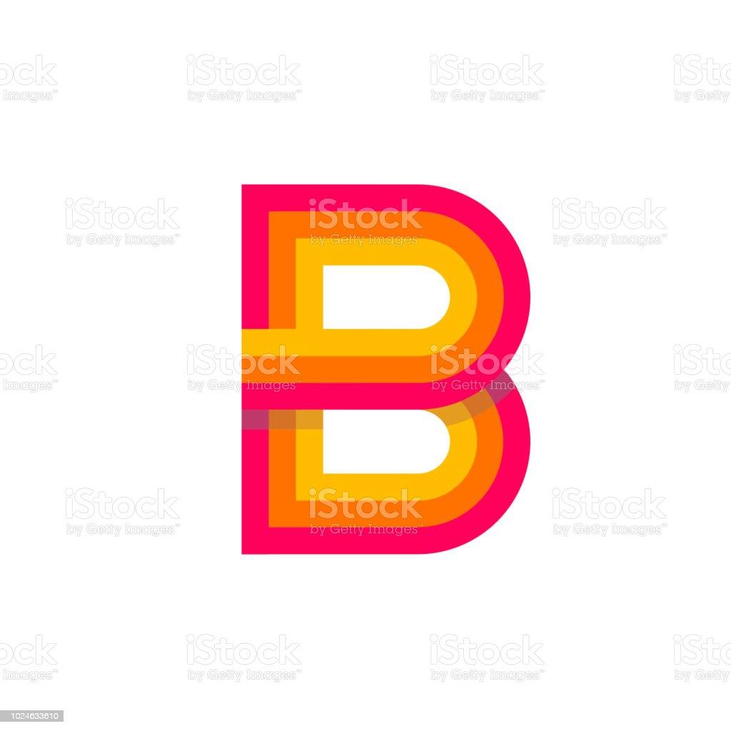 Vectoriel Logo Lettre B Rouge Incandescent Vecteurs Libres De Droits Et Plus D Images Vectorielles De Abstrait Istock