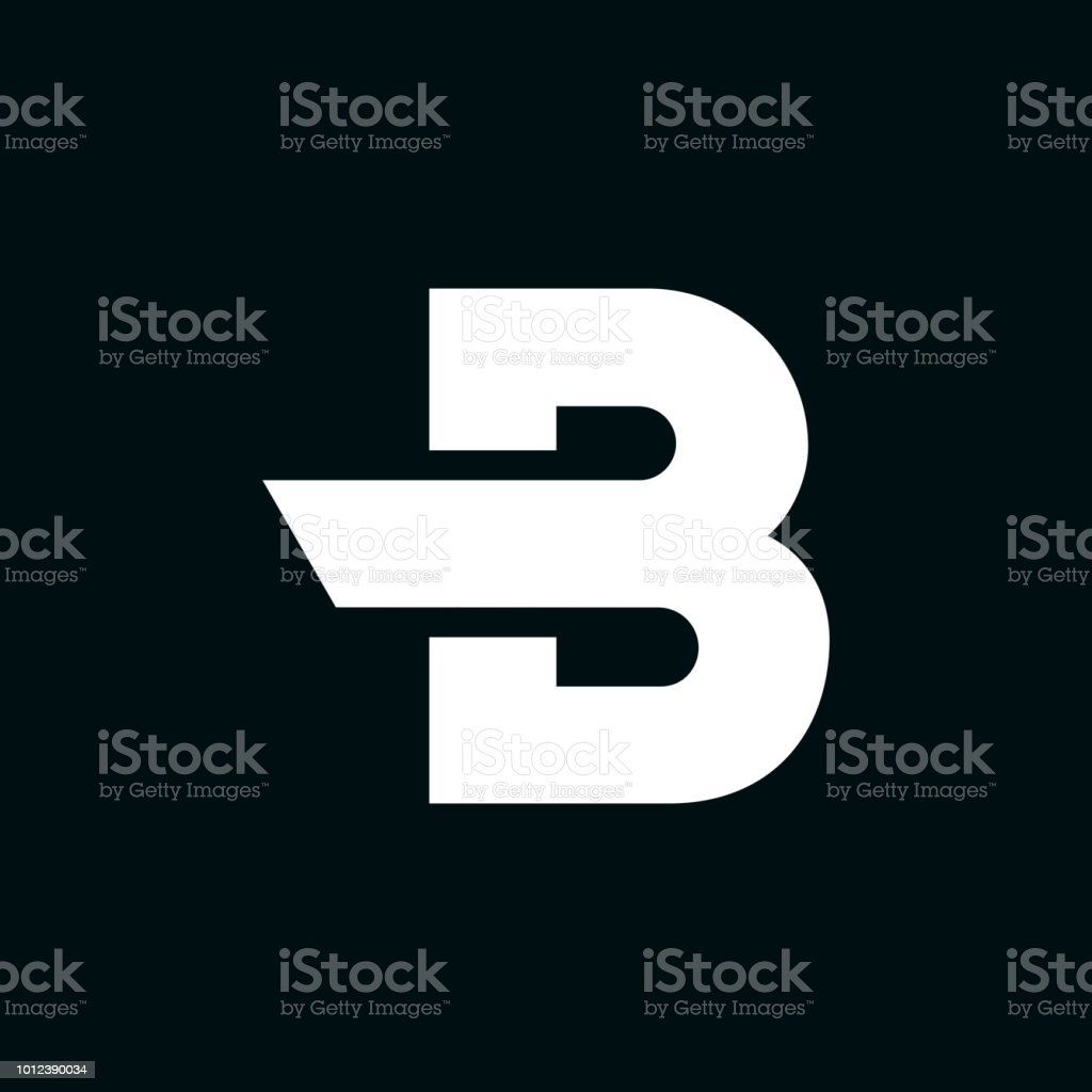 Vector Logo Letter B Wing vector art illustration