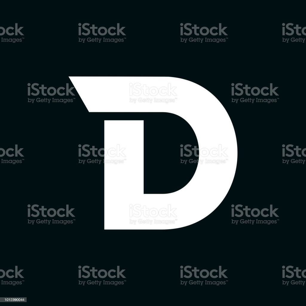 image relating to D&d Battle Grid Printable named Simplest Letter D Examples, Royalty-Free of charge Vector Graphics