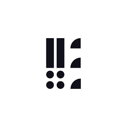 Vector Logo Letter E Black and White