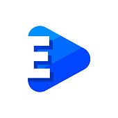 Vector Logo Letter E. E Letter Design Vector