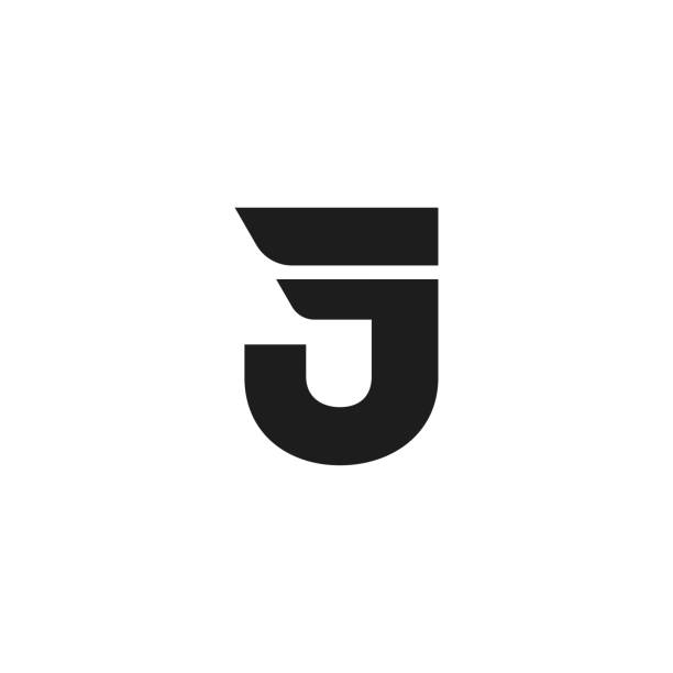 Vector Logo Letter J Double Wing Modern Vector Logo Letter J. J Letter Design Vector Double Wing letter j stock illustrations