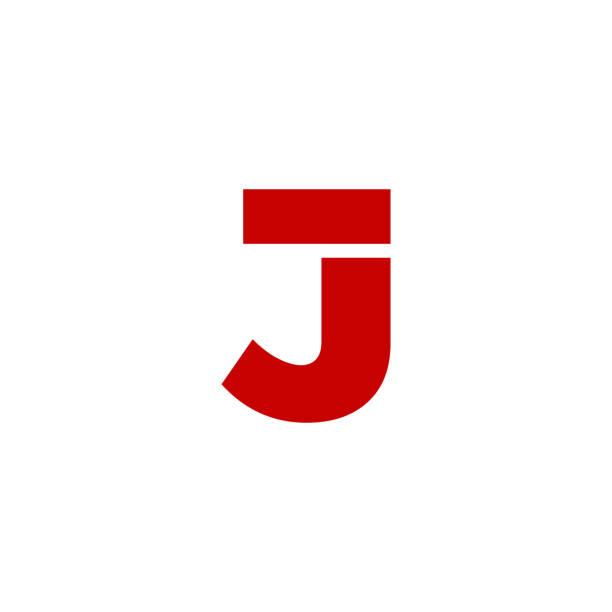 Vector Logo Letter J Modern Vector Logo Letter J. J Letter Design Vector letter j stock illustrations
