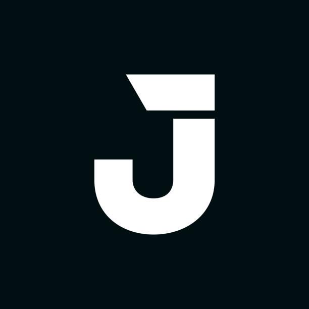 Vector Logo Letter J Wing Modern Vector Logo Letter J. J Letter Design Vector letter j stock illustrations