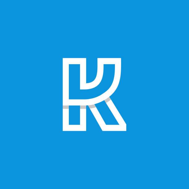 向量徽標字母 k 白色 - k logo 幅插畫檔、美工圖案、卡通及圖標
