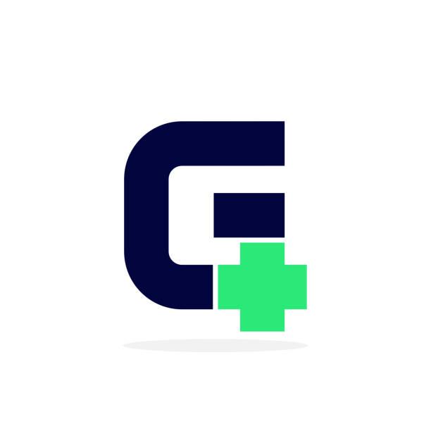 Vector Logo Letter Medical Cross G vector art illustration