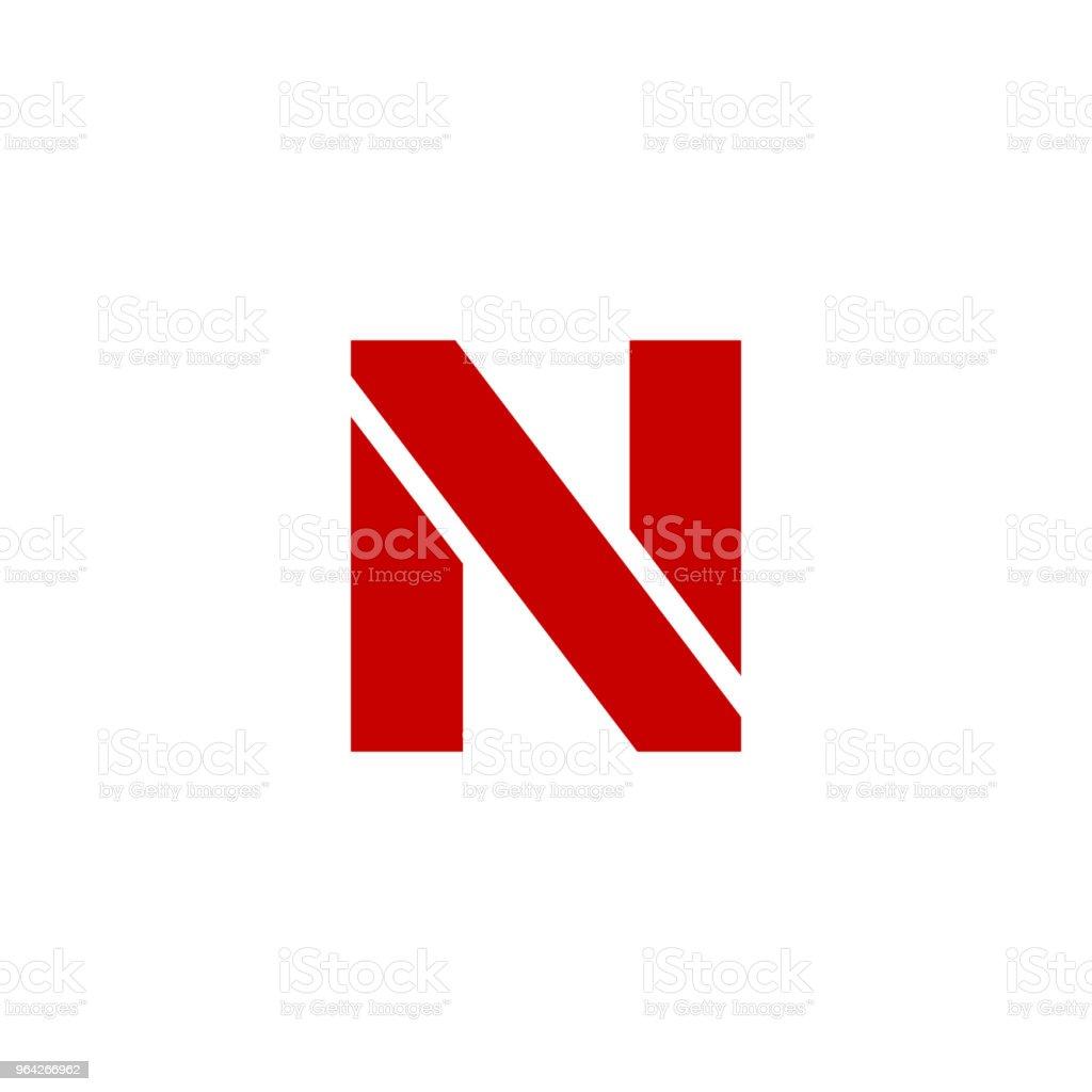 7eb8e6211 Vetor logotipo letra N vetor de vetor logotipo letra n e mais banco de  imagens de abstrato