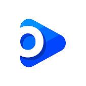 Vector Logo Letter O Triangle