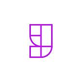 Vector Logo Letter Pink Line Y