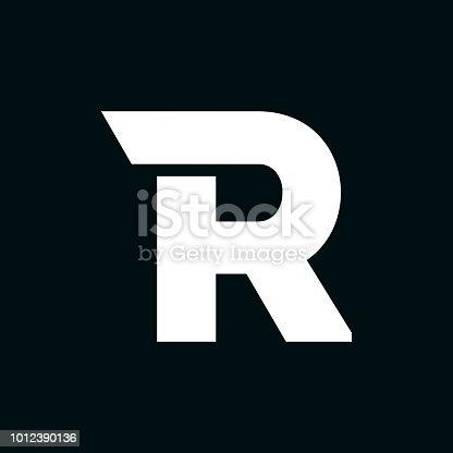 Modern Vector Logo Letter R. R Letter Design Vector