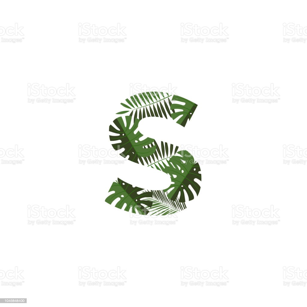 Vector Logo Letter S Tropical Leaves Stock Illustration Download Image Now Istock 66,462 tropical leaves premium high res photos. vector logo letter s tropical leaves stock illustration download image now istock