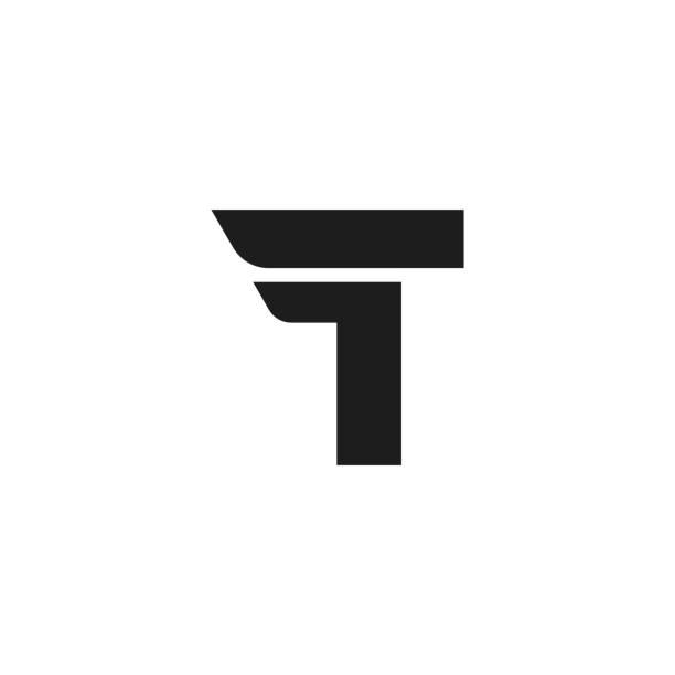 Vector Logo Letter T Double Wing Modern Vector Logo Letter T. T Letter Design Vector Double Wing letter t stock illustrations