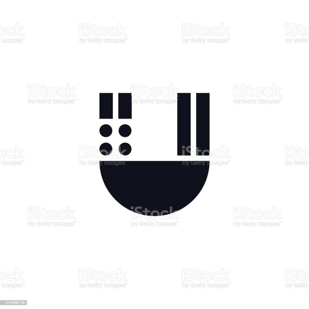 vector logo letter u black and white stock vector art & more images