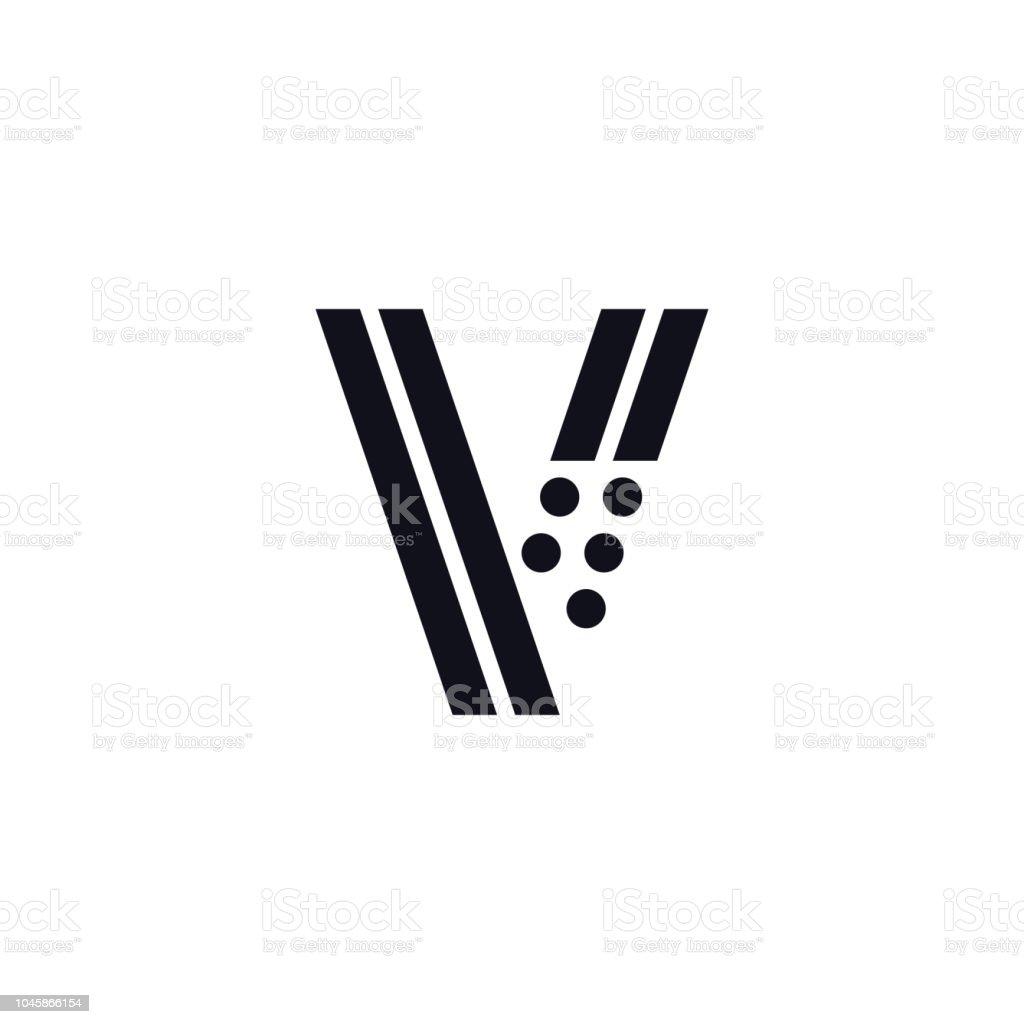 Vector Logo Letter V Black And White Stock Vector Art More Images
