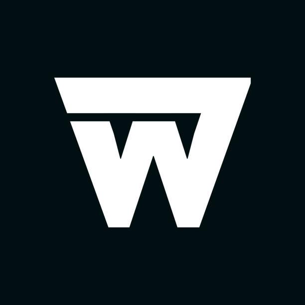 Vector Logo Letter W Wing Modern Vector Logo Letter W. W Letter Design Vector w logo stock illustrations