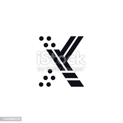 Vector Logo Letter X Black And White Stock Vector Art More Images