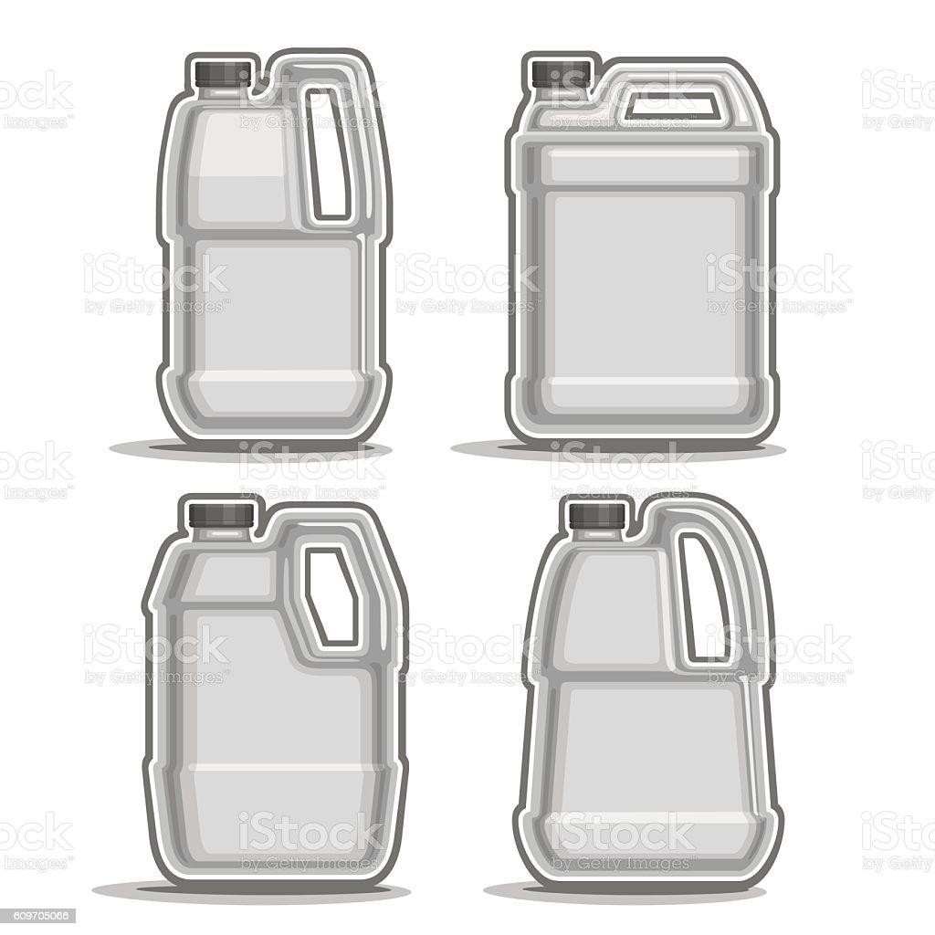 Vector logo monochrome canisters vector art illustration