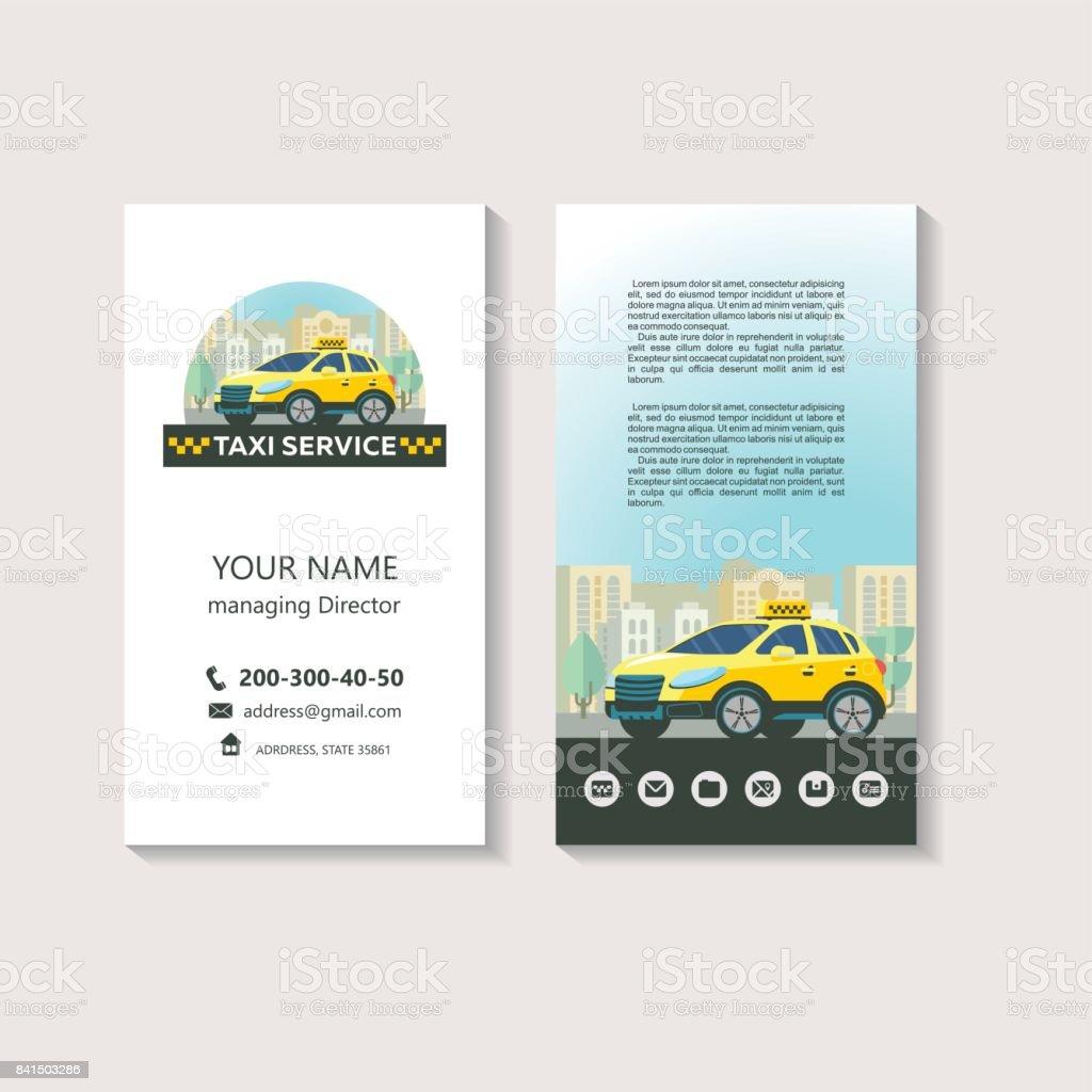 Vektorlogo Von Der Taxiservice Unternehmensidentität Visitenkarte  Taxiservice Stock Vektor Art und mehr Bilder von Auto