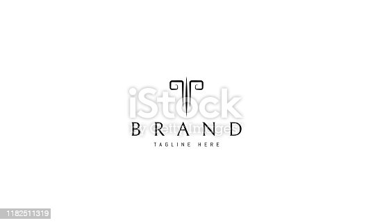 Vector logo design on which an abstract image of the head of a goat.