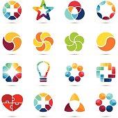 Vector logo set. Circle  signs and symbols. Design elements.