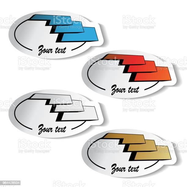 Vetores de Símbolos De Logotipo De Vetor Adesivos Ícones De Construção De Edifício e mais imagens de Artigo de decoração