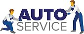 Vector logo template for autoservice or car repair