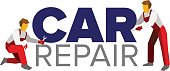 Vector logo template for autoservice or car repair