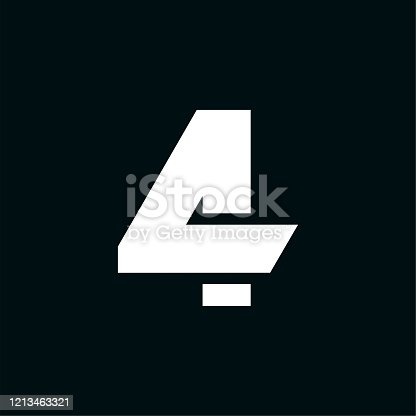 istock Vector Logo Wing Number 4 1213463321