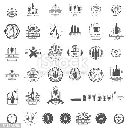 Vector logos for beer house, bar or pub