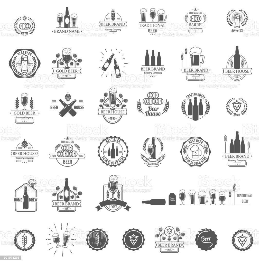 Vector logos for beer house, bar or pub - ilustração de arte em vetor