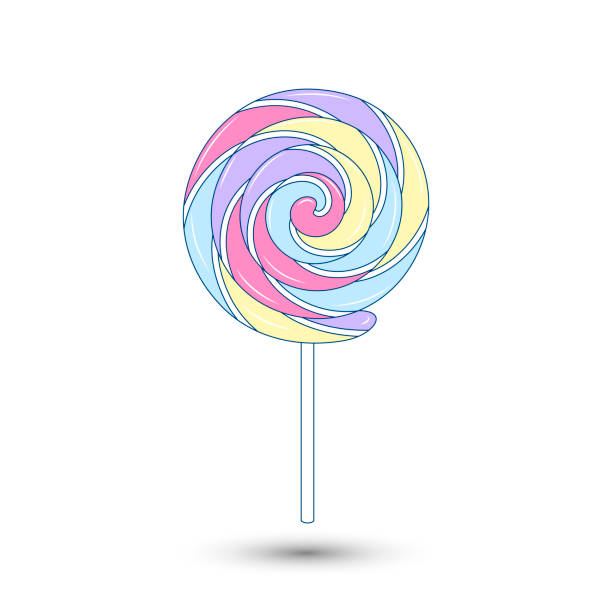 vector lollipop-ikone. essen, leckeres symbol. für design, website-design, logo, app, ui. - lutscher stock-grafiken, -clipart, -cartoons und -symbole