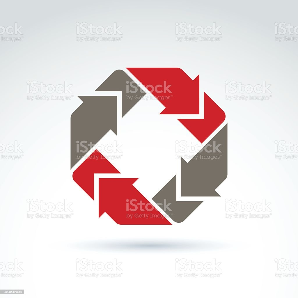 Vector loop sign, circulation and rotation icon isolated vector art illustration