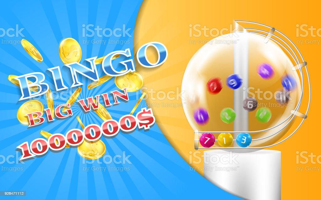 Bandera de la lotería de Vector, fondo juego bingo - ilustración de arte vectorial