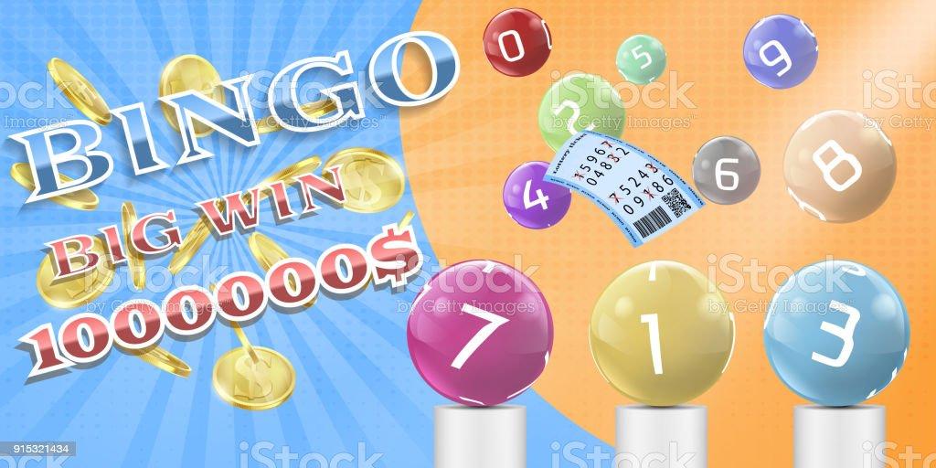 Ilustración de Vector Lotería Bingo Juego Afiche Plantilla De La ...