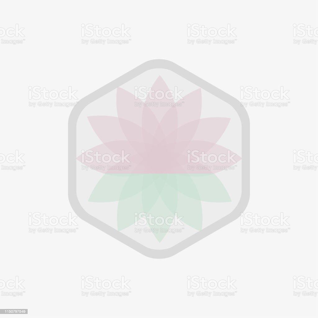 Icônes De Fleur De Lotus Vecteur Dessin Monochrome Sur Fond