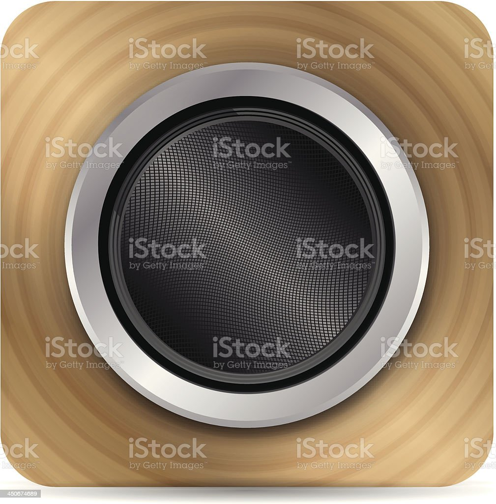 Vector loudpseaker icon royalty-free stock vector art
