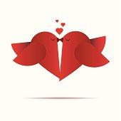 Vector Love Birds Background
