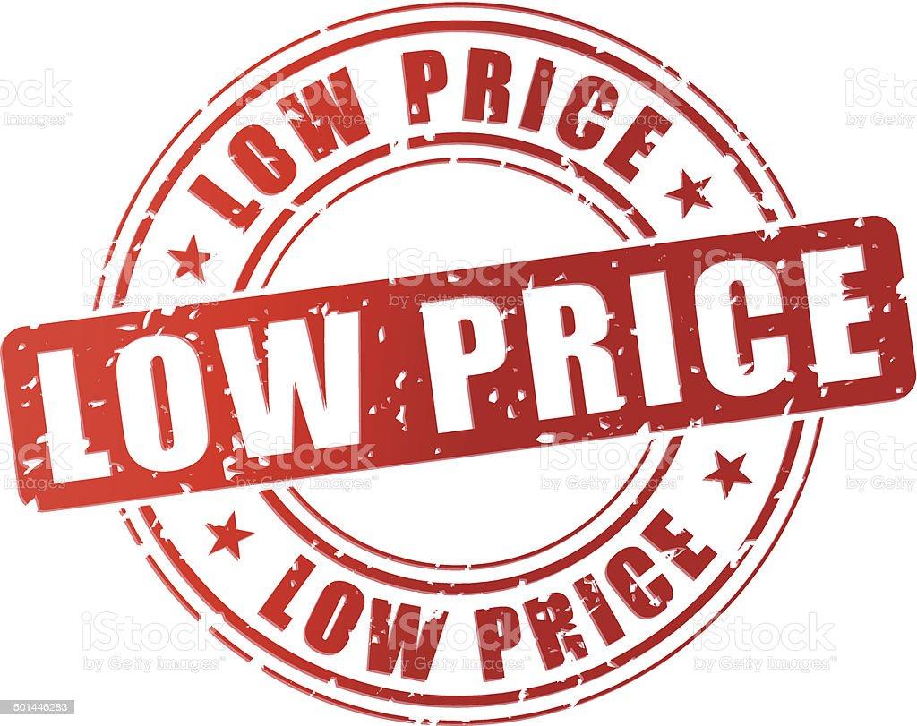 Vector low price stamp vector art illustration