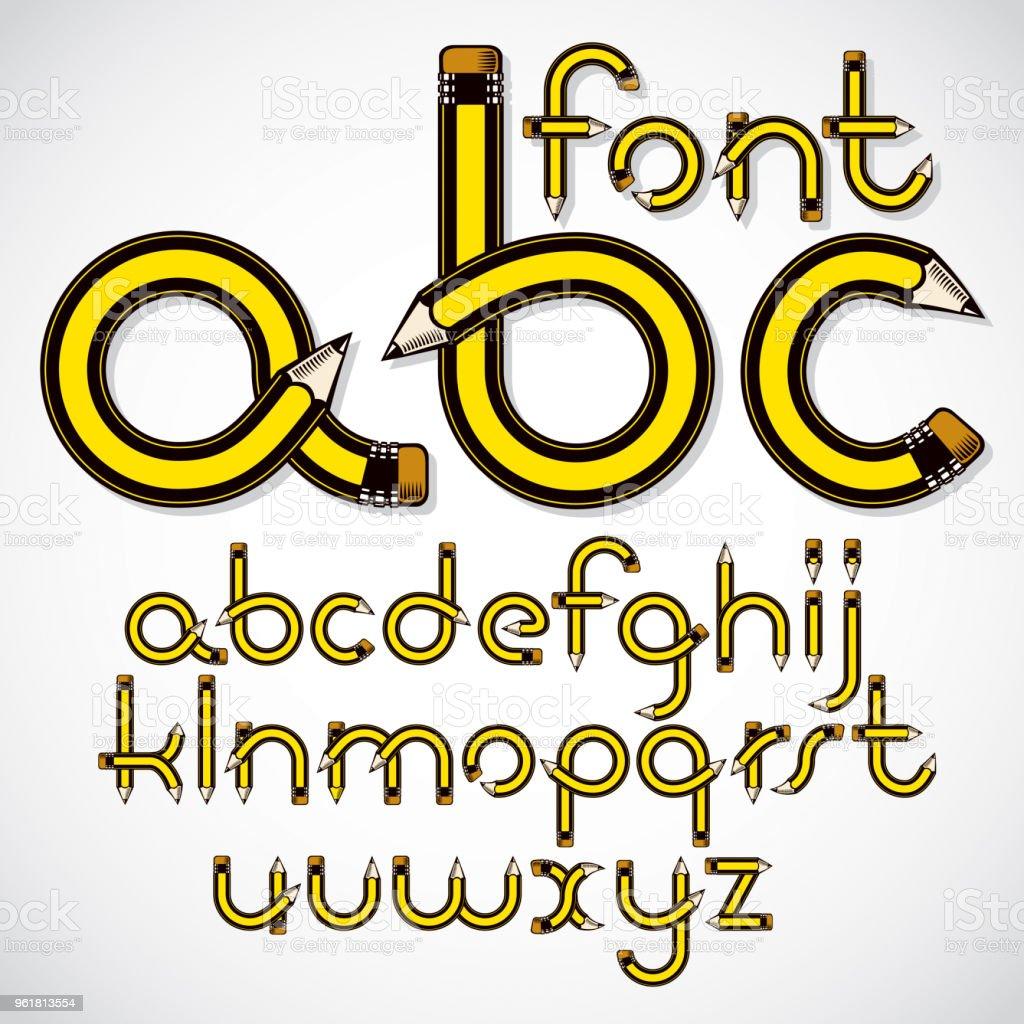 Vektor Kleinbuchstaben Englische Alphabet Buchstaben Sammlung Mit
