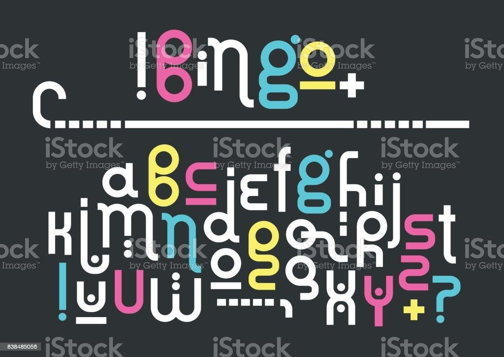 Vector minúsculas moderno alfabeto. - ilustración de arte vectorial