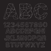 Vector Lowpoly Outline Font