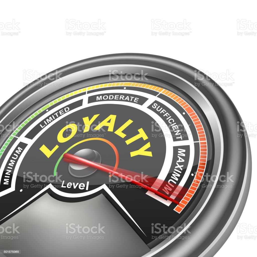 vector loyalty conceptual meter indicator vector art illustration