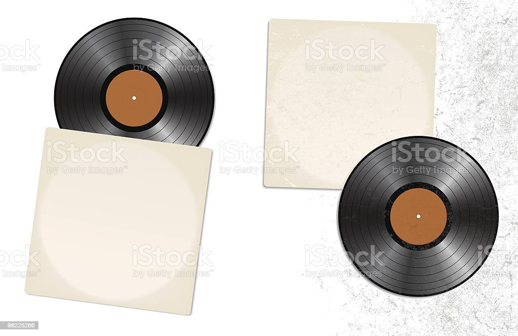 Vector LPs, Clean and Grungy royalty-free vector lps clean and grungy stock vector art & more images of 1950-1959