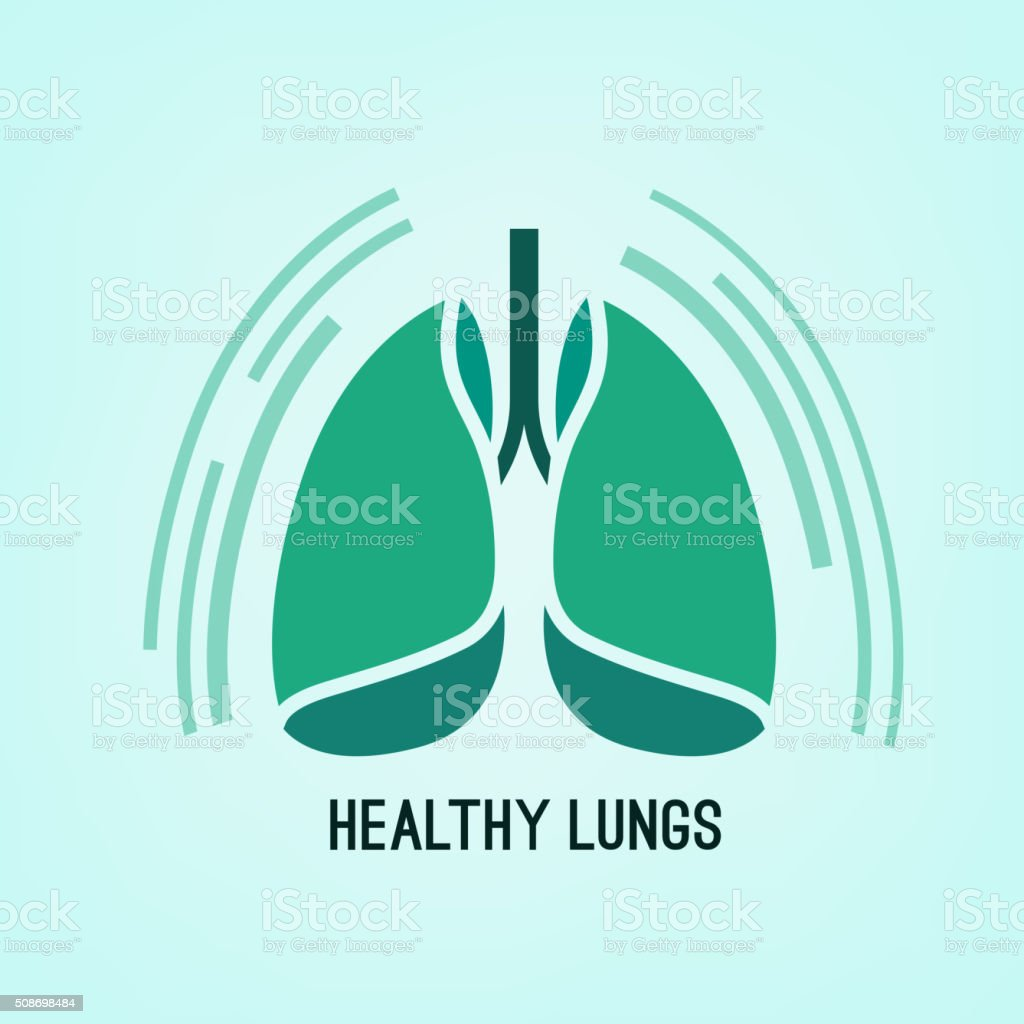 Vector Lungs Icon vector art illustration